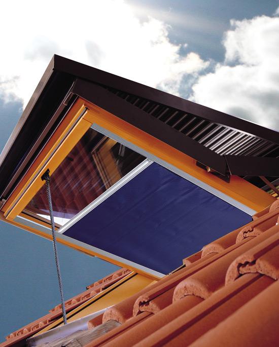 Tapparella elettrica per abbaini for Finestra nel tetto